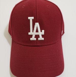 🔥 LA Dodgers 47 MVP maroon adjustable cap